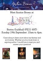 Join me at Boston Book Festival (UK) 2021!